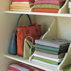 hang a shelf upside-down and the brackets become separators