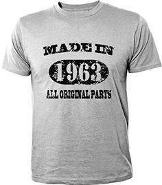 Mister Merchandise T-Shirt 51 52 Made in 1963 All Original Parts Years Jahre Geburtstag - Camiseta para Hombre S-XXL - Muchos Colores