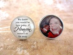 In Memory Photo Cuff Links  Personalized Picture by LittleGemGirl