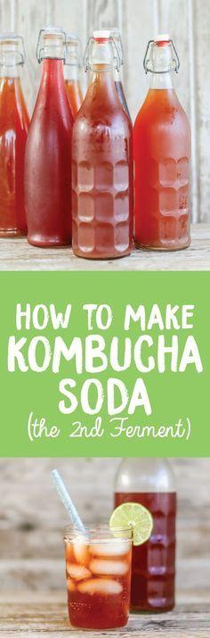 How to make Kombucha Soda (second ferment) http://www.healthstartsinthekitchen.com/recipe/make-kombucha-soda-second-ferment/?utm_campaign=coschedule&utm_source=pinterest&utm_medium=Hayley%20%40%20Health%20Starts%20in%20the%20Kitchen&utm_content=How%20to%20make%20Kombucha%20Soda%20%28second%20ferment%29
