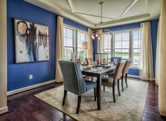 "The interior dining area of the ""Chesapeake Ranch"" model home by Christopher Companies. #SeasideInteriors"