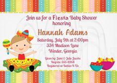 fiesta baby shower invitation sprinkle or birthday file