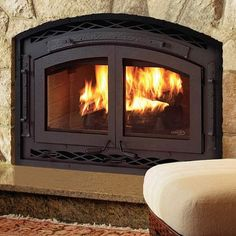 Expert Energy Saving Tips: Stop fireplace heat loss, Use airtight fireplace doors Wood Fireplace Inserts, Fireplace Doors, Old Fireplace, Modern Fireplace, Fireplaces, Fireplace Ideas, Fireplace Glass, Fireplace Cover, Fireplace Remodel