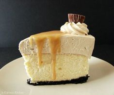 Peanut Butter Truffle Mousse Cheesecake from @KatrinasKitchen at www.inkatrinaskit...