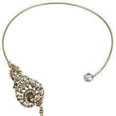 Collier Torque Print & Diamond (doré), Lotta Djossou