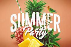 Summer Party | Psd Flyer Template 4 by Creative Flyers on @creativemarket