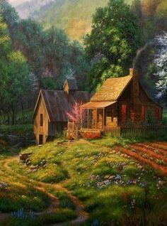 Cabin & Barn...Painting