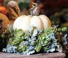 9 top white pumpkin centerpieces images fall wedding floral rh pinterest com