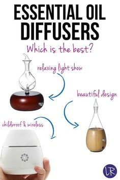 Get the most out of your essential oils with these nebulizing oil diffusers!