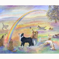 Rainbow Bridge 8x10 print  Waiting for You by by susanalisonart, $17.00