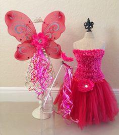 Rosetta Tinkerbell Bell Fairy Costume Fairy Wings by partiesandfun