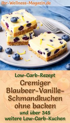 Creamy low carb blueberry vanilla sour cream cake without baking recipe without sugar Low Carb Desserts, Healthy Desserts, Wine Recipes, Baking Recipes, Sour Cream Cake, Low Carb Lunch, New Cake, Mushroom Recipes, Coffee Cake