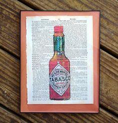 Tabasco Hot Sauce Print New Orleans Louisiana Cajun by SudDouce, $15.00