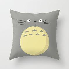 Totoro Throw Pillow by Jackscissorhands - $20.00