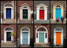 ...famous doors of ireland...it is said...  moore painted his door green... so drunken gogarty would not come knocking on it thinking it his... gogarty painted his door red....so drunken moore would not come knocking...thus begun the fashion....
