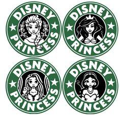 Disney Logo, Disney Decals, Disney Diy, Disney Crafts, Disney Fonts, Disney Starbucks, Starbucks Logo, Starbucks Coffee, Vinil Cricut