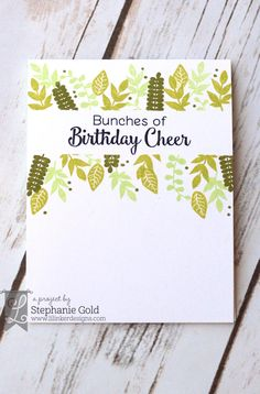 by Stephanie Gold for Lil Inker Designs Bunches of Birthday Cheer - Golden Simplicity