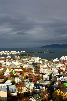 Looking toward the harbour, Reykjavik, Iceland, 2011, photograph by Ashley Mateo.