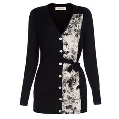 black collage floral panel cardigan from paul smith