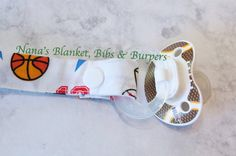 Pacifier Clip / Sports Theme for a Boys  by NanasBlanketsBibs