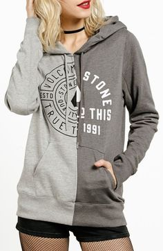 Free shipping and returns on Volcom Slippin' Up Hoodie at Nordstrom.com. Divvied up with different logo screenprints, this color-blocked hoodie looks like a cool collision of two cozy sweatshirts.