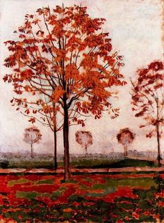 Autumn Trees, Ferdinand Hodler. Swiss, (1853-1918)