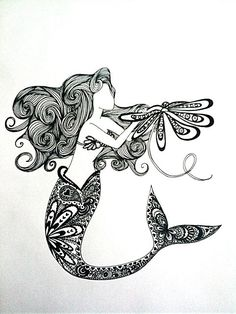 Love The Little Mermaid. Imagine this as a tattoo.. holy pretty!