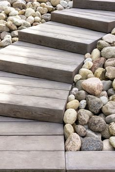 Looking for timber steps or an outdoor wooden staircase without the maintenance? Borealis stone steps look & feel exactly like wood but are made out of concrete so they'll never warp or rot. Wood Stamped Concrete, Concrete Walkway, Concrete Stairs, Concrete Garden, Wooden Steps Outdoor, Outdoor Walkway, Modern Landscaping, Outdoor Landscaping, Hillside Landscaping