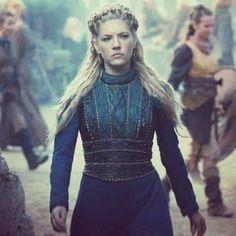 The Queen of Kattegat  . .  #Vikings #Kattegat #Queen... #historyvikings #vikings #lothbrok Vikings History Vikings Vikings Series Lothbrok HVITSERK Norse