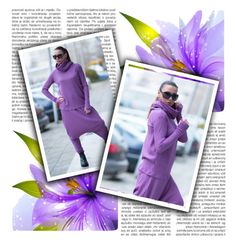 """""""NEW Collection Purple Knitting Turtleneck Blouse"""" by umay-cdxc ❤ liked on Polyvore featuring EUGfashion"""