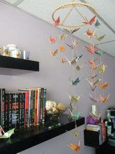 Wouldn't mind a lovely paper crane mobile or some sort of peace chain hanging around the house. I'll have to look into that.