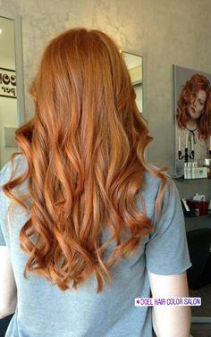 Lively Marigold Instagram.com/joelhaircolorsalon #hair #haircolor #hairstyle #parrucchiere #capelli #redhair #shine #light #hairporn #hairdresser #hairstyle #elumen