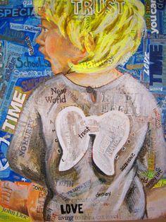 """""""Girl With Angel Wings"""" by Noelle Smith, Great Oak High School, #Art4Literacy"""