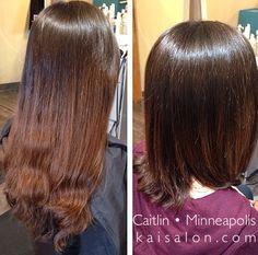 #beforeandafter #haircuts #hair #cuts #brunette #brunettehair #aveda #northloop #nolo #themoment #kaisalonmn