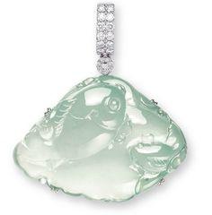Carved jadeite pendant.