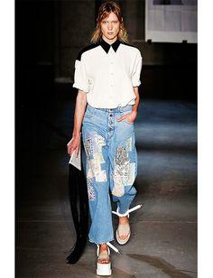 os Achados | Jeans Diferentes: bordados, estampados, cortados...