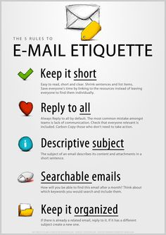 The 5 rules to email etiquette