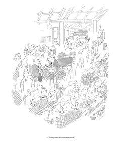 Jean-Jacques Sempé – Bourrasques et accalmies   Galerie Martine Gossieaux