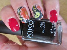 Nail art red stickers daisy #artnailsticker #bornpretty #flowers #nailart #stickers #daisy