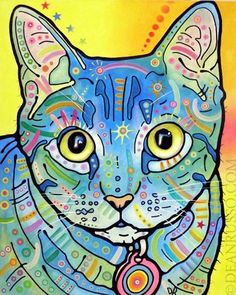dean russo art #cat #kitty #color