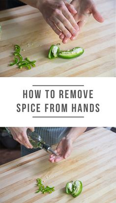 how to remove spice from peppers, etc from hands from @green_chef