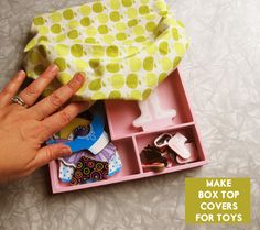 CRAFTOBER: Toy box cover tutorial – Modern Kiddo  Love this idea - we've already lost some of Teagan's wooden puzzle pieces.