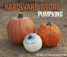 The Swell Life: Hardware store pumpkins for iLoveToCreate.com