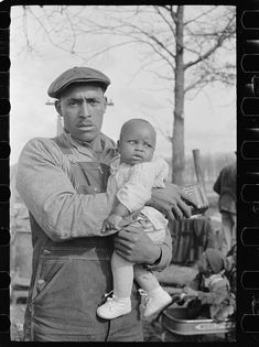Evicted sharecropper and child, New Madrid County, Missouri