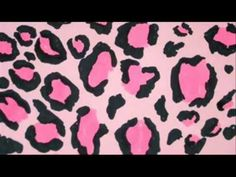 How To Make Leopard Pattern - Pink and Black Leopard Print For Wall, Nails, Make-up etc