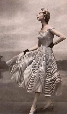 Dress by Ceil Chapman, 1954.