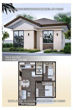Simple House Design, Tiny House Design, Modern House Design, 2 Bedroom House Design, Simple Bungalow House Designs, 2 Bedroom House Plans, Small House Layout, House Layout Plans, House Layouts