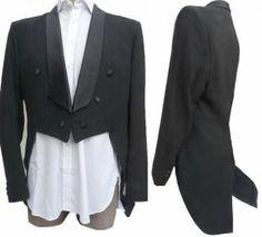 Custom Tailored PlayBoy Tuxedo 44 Tailcoat Mens Black Formal  VTG? Cutaway