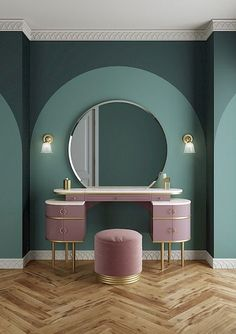 Zelda: A tribute to the femininity of the The new wash basin from . - Zelda: A tribute to the femininity of the The new wash basin from Devon & Devon – Dormitori - Decor, Dressing Table Design, Interior, Art Deco Interior, Bedroom Interior, House Interior, Home Interior Design, Mid Century Decor, Interior Deco