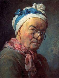 """Jean-Baptiste-Siméon Chardin, """"Self-portrait, 1777, pastel in the Louvre Museum Paris France"""
